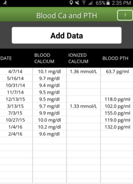 B, Keyon Calcium Pro App screenshot